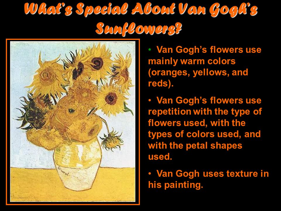 What's Special About Van Gogh's Sunflowers