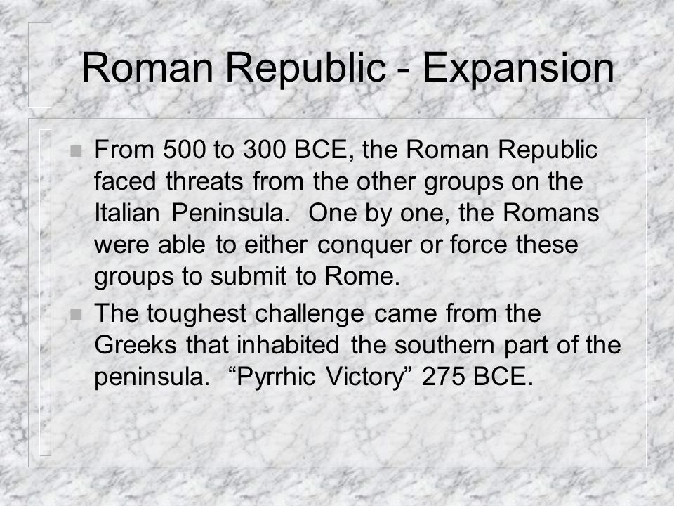 Roman Republic - Expansion