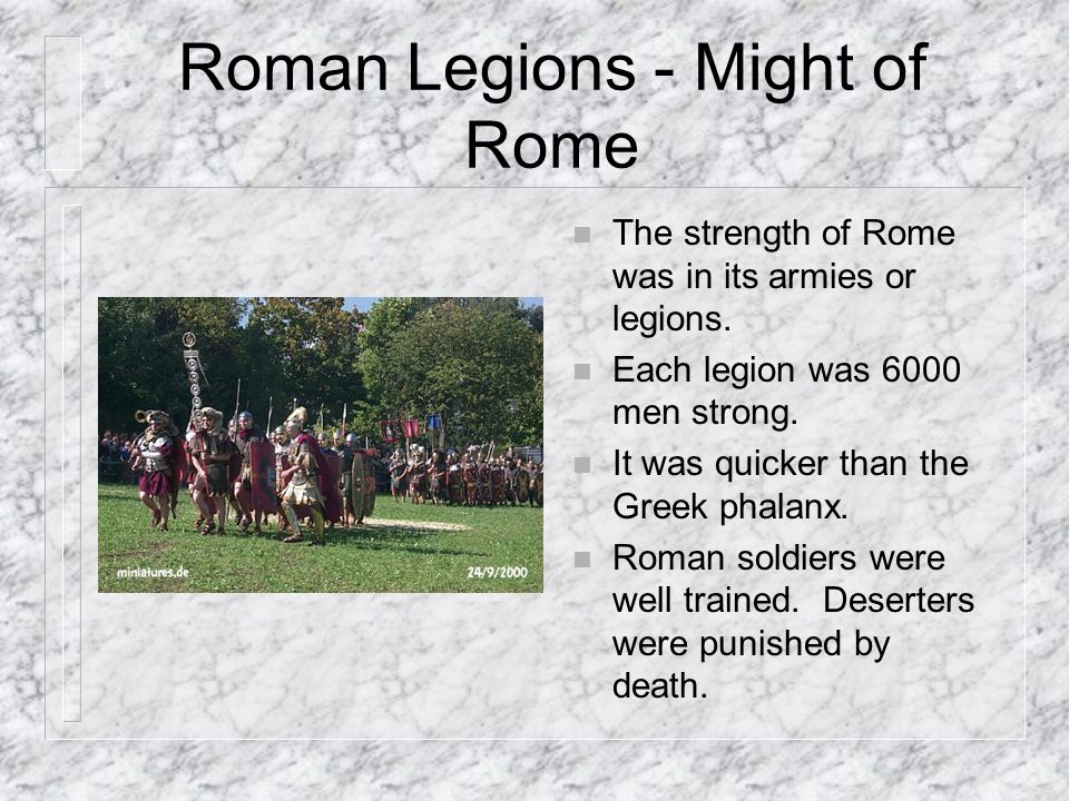 Roman Legions - Might of Rome