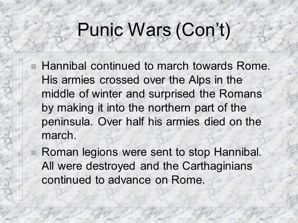 Punic Wars (Con't)