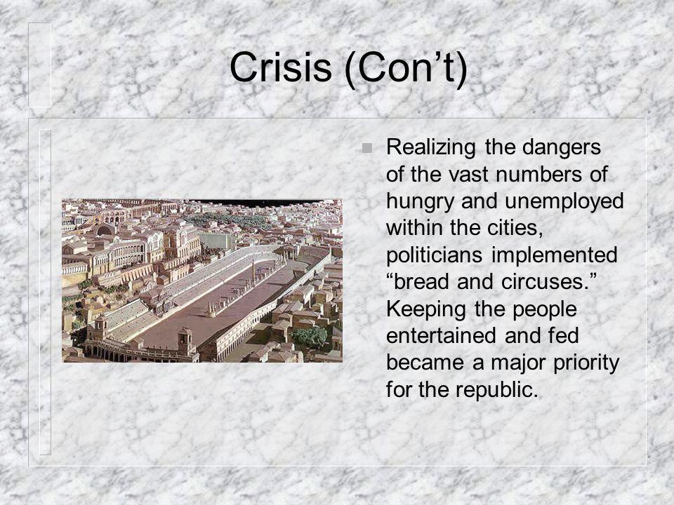 Crisis (Con't)