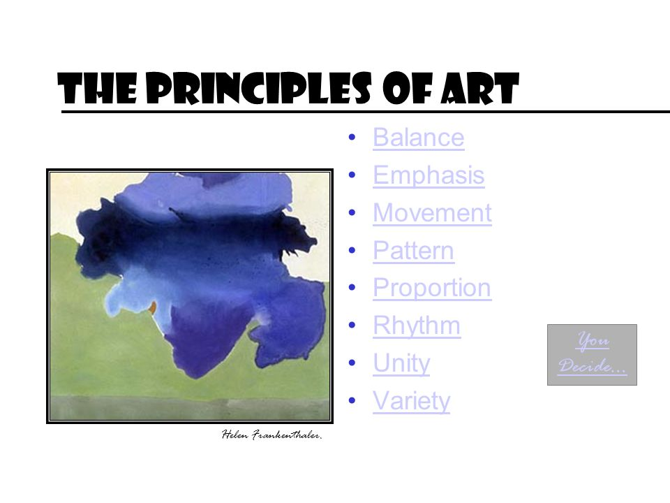 The Principles of Art Balance Emphasis Movement Pattern Proportion
