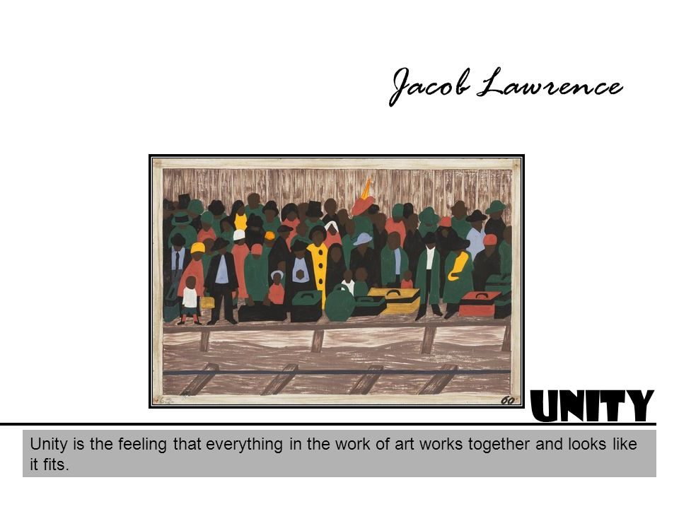 Jacob Lawrence Unity.