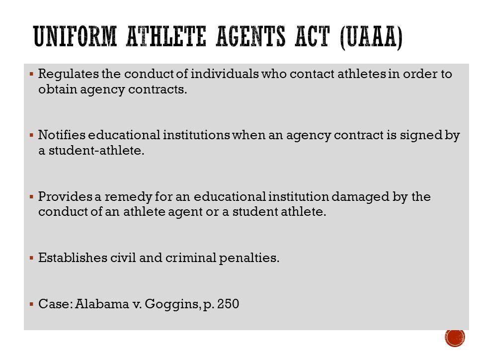 Uniform Athlete Agents Act 95