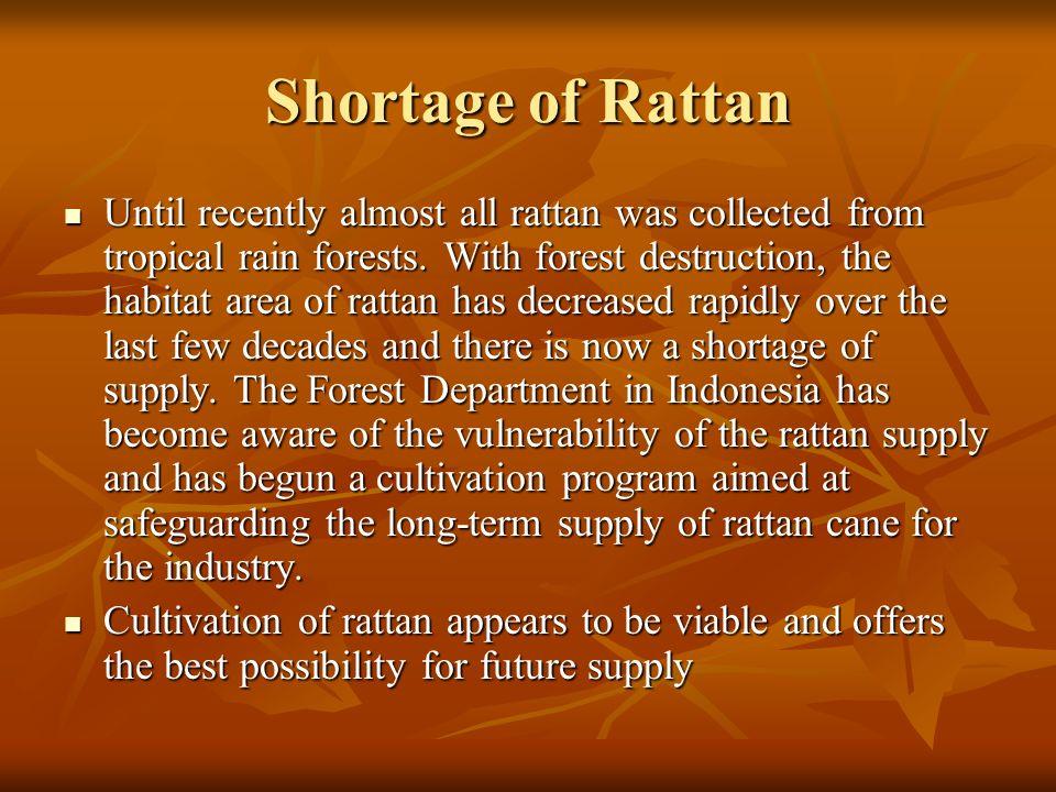 Shortage of Rattan