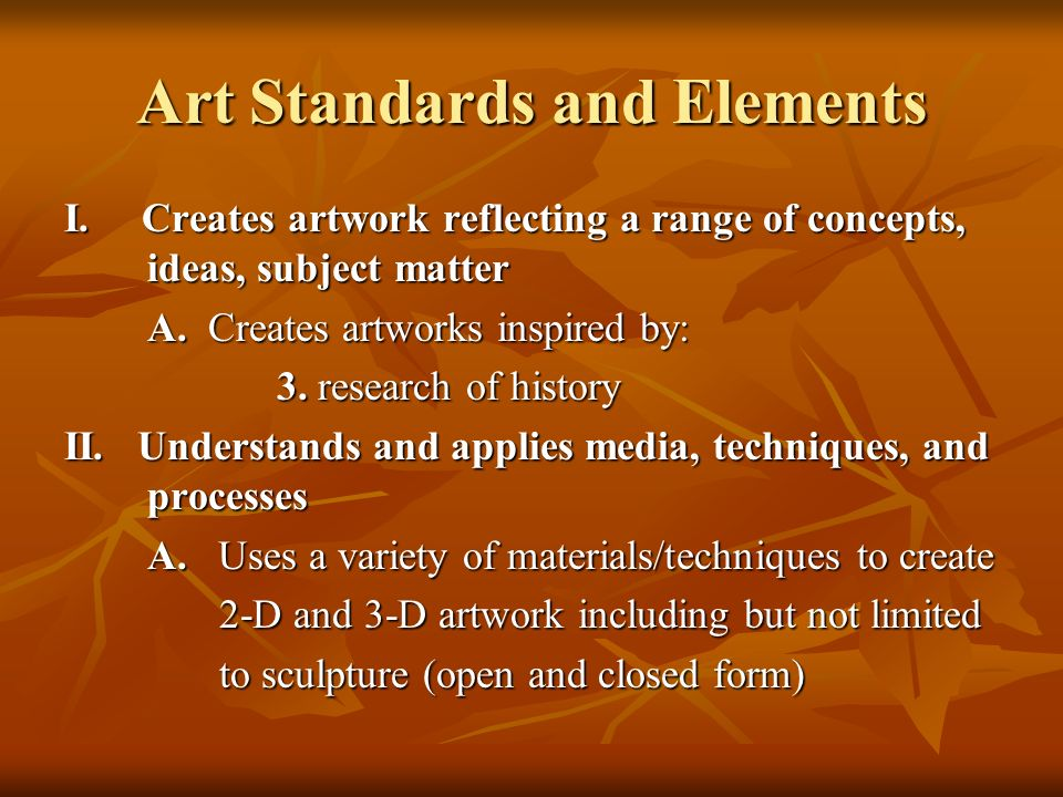 Art Standards and Elements
