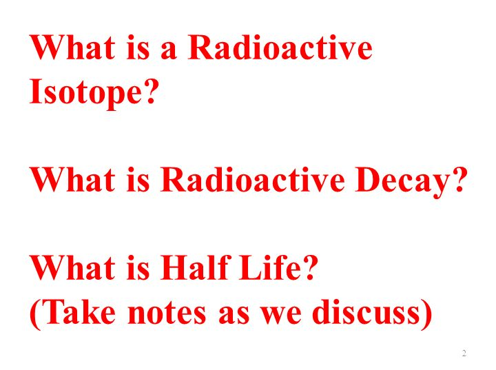 What is a Radioactive Isotope