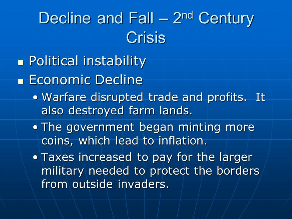 Decline and Fall – 2nd Century Crisis