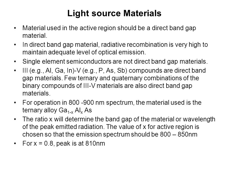 Light source Materials