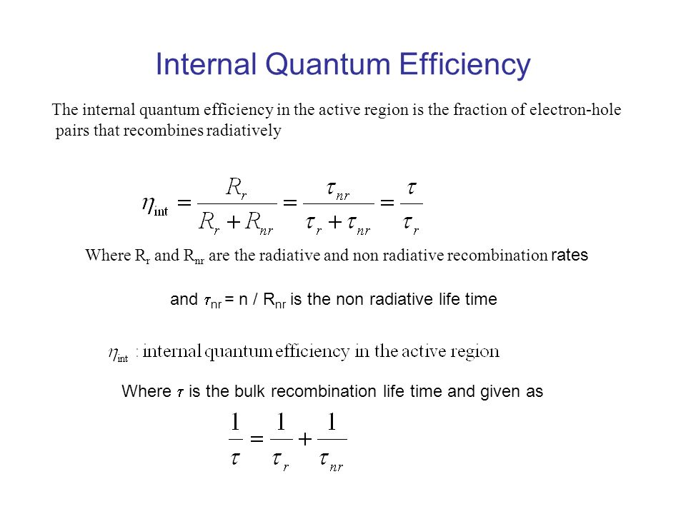 Internal Quantum Efficiency