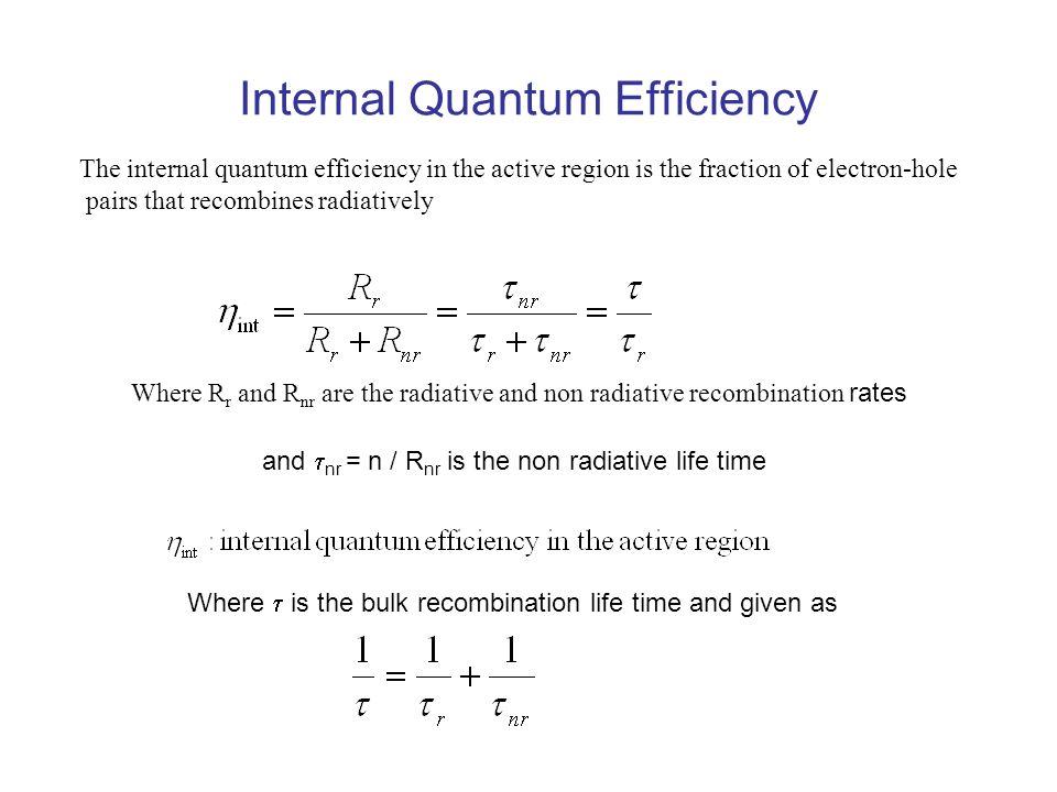 Internal Quantum Efficiency