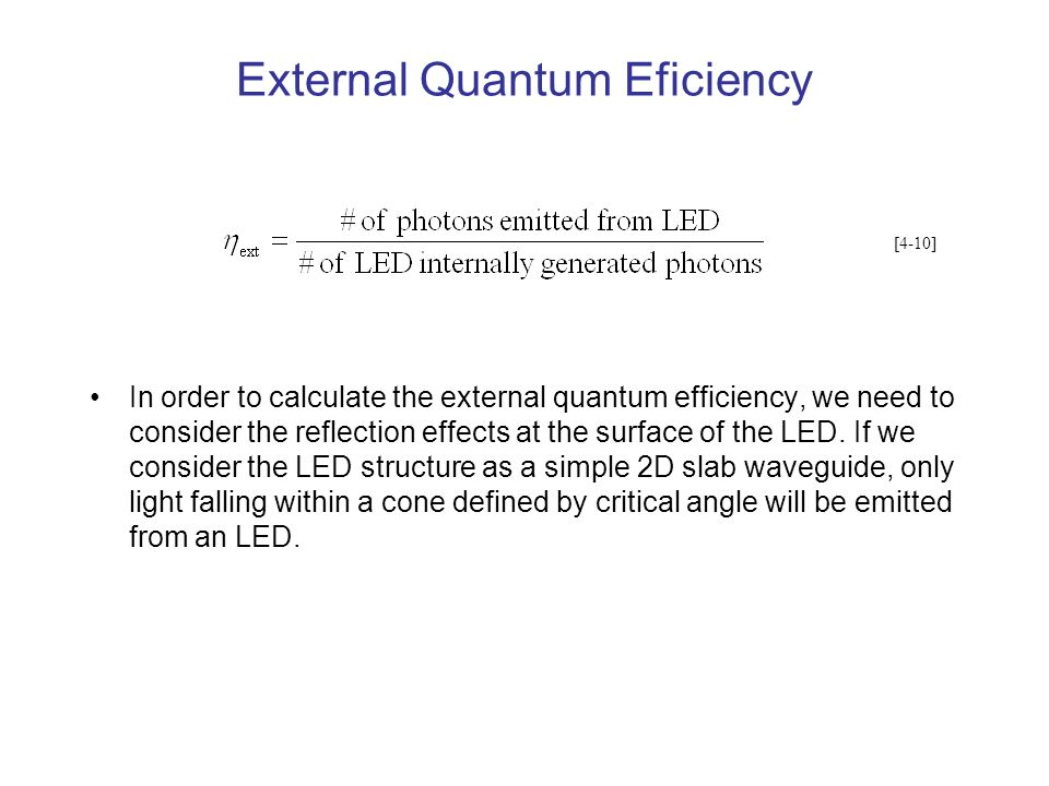 External Quantum Eficiency