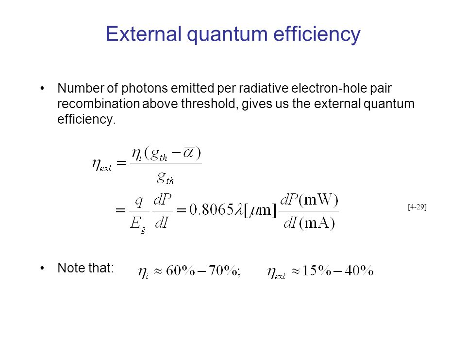 External quantum efficiency
