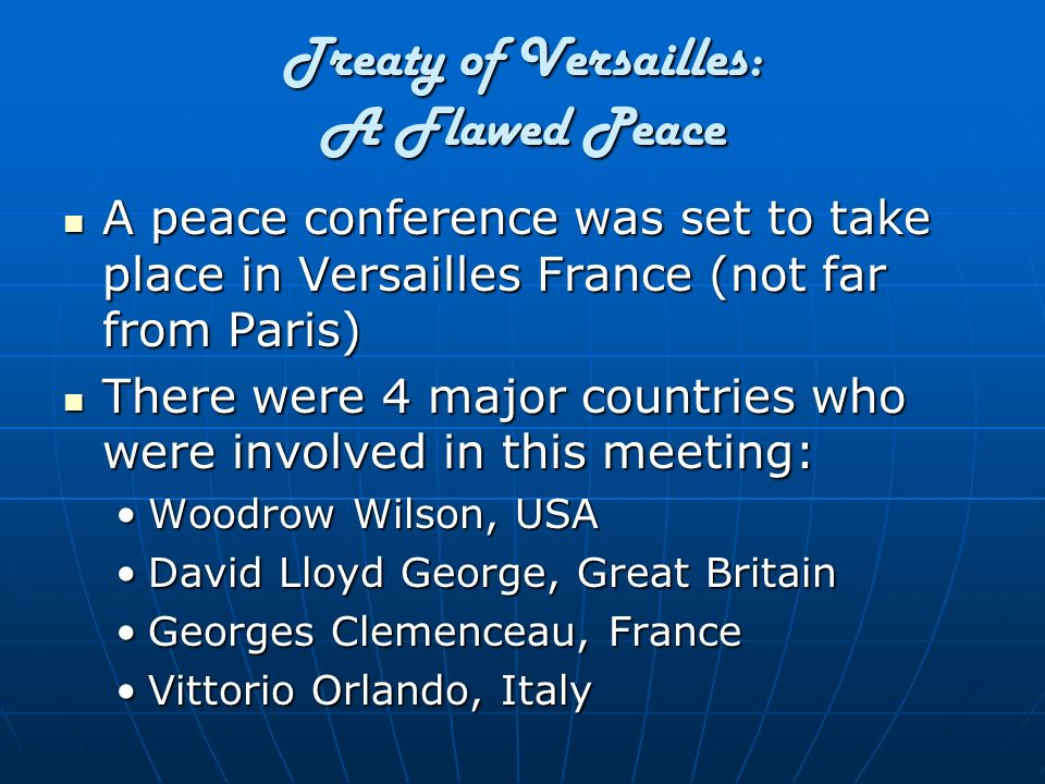 Treaty of Versailles: A Flawed Peace