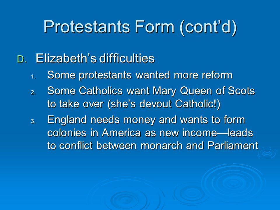 Protestants Form (cont'd)