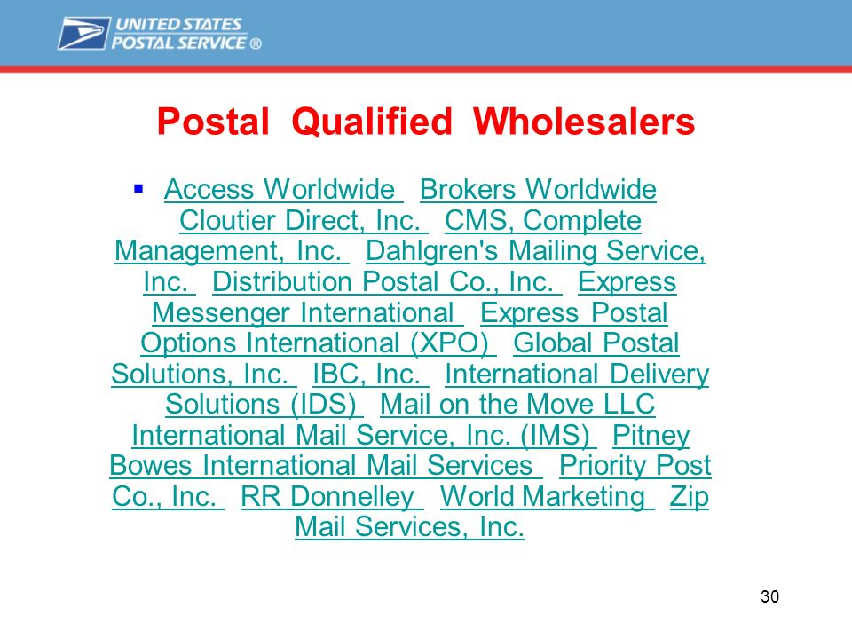 Brokers worldwide international mail