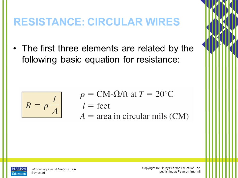Resistance ppt video online download 9 resistance circular wires greentooth Image collections