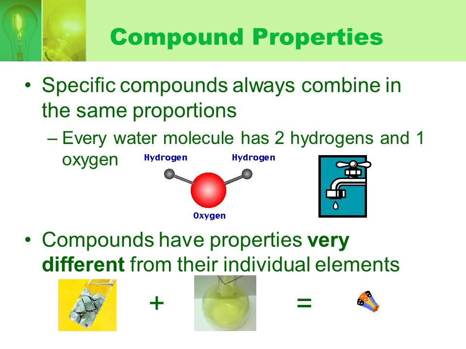 + = Compound Properties