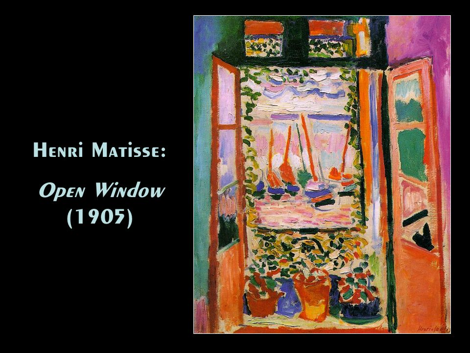 Henri Matisse: Open Window (1905)