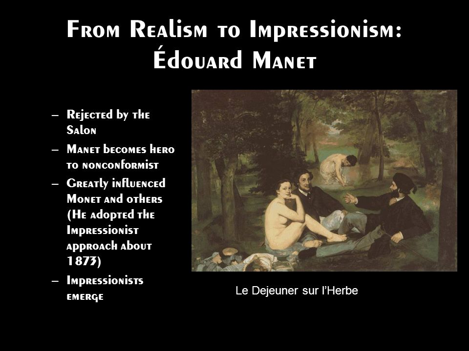 From Realism to Impressionism: Édouard Manet