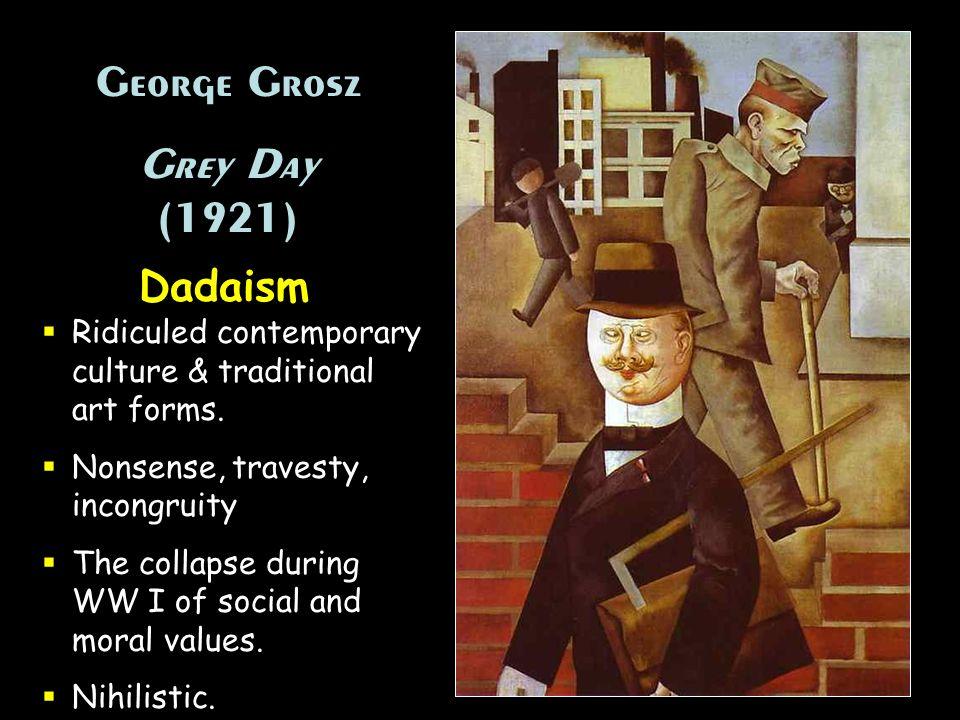 George Grosz Grey Day (1921) Dadaism