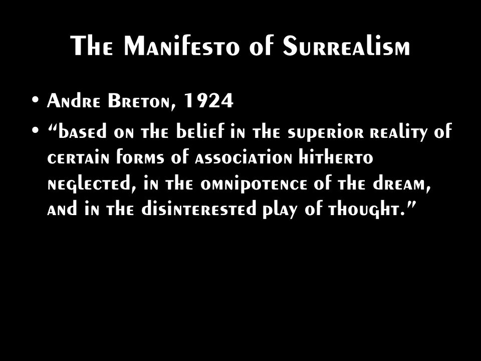 The Manifesto of Surrealism