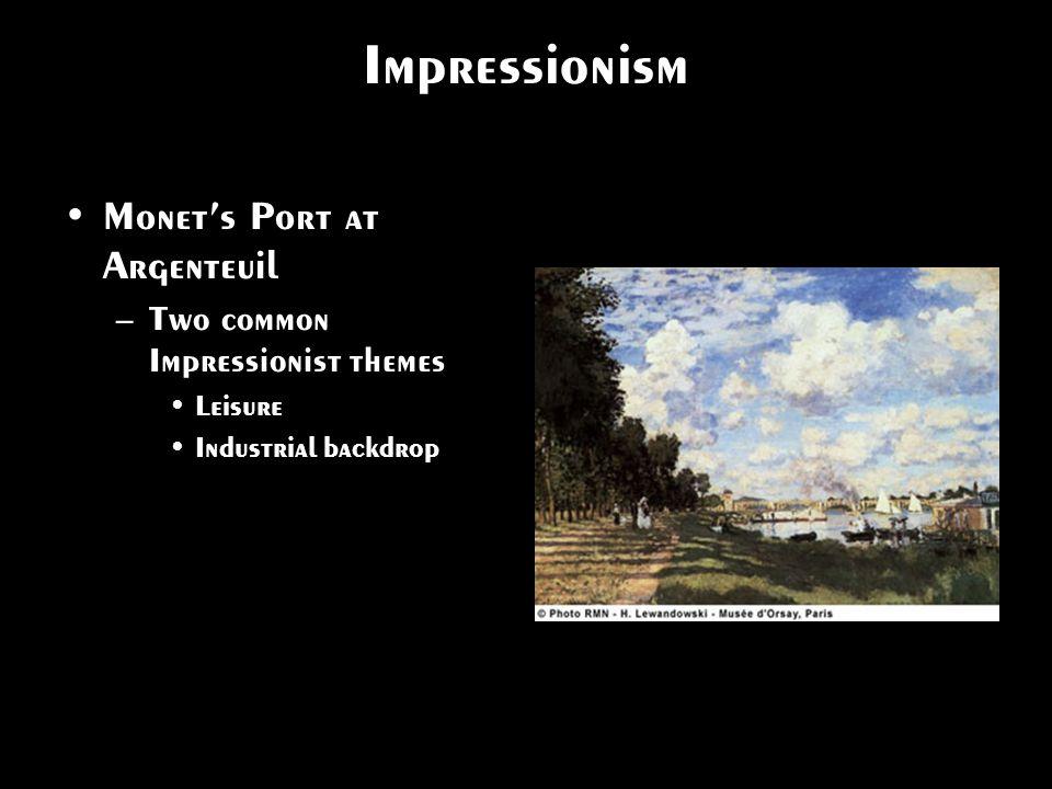 Impressionism Monet's Port at Argenteuil