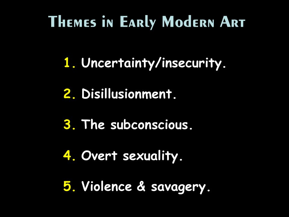Themes in Early Modern Art