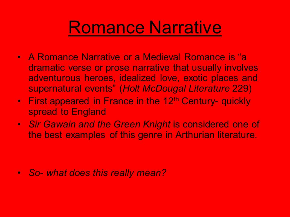 Romance Narrative