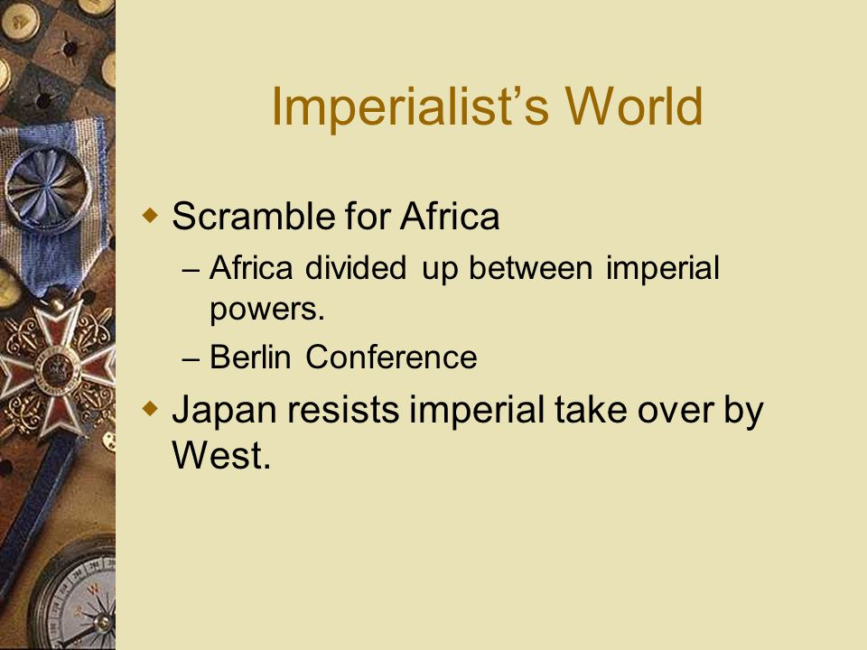 Imperialist's World Scramble for Africa