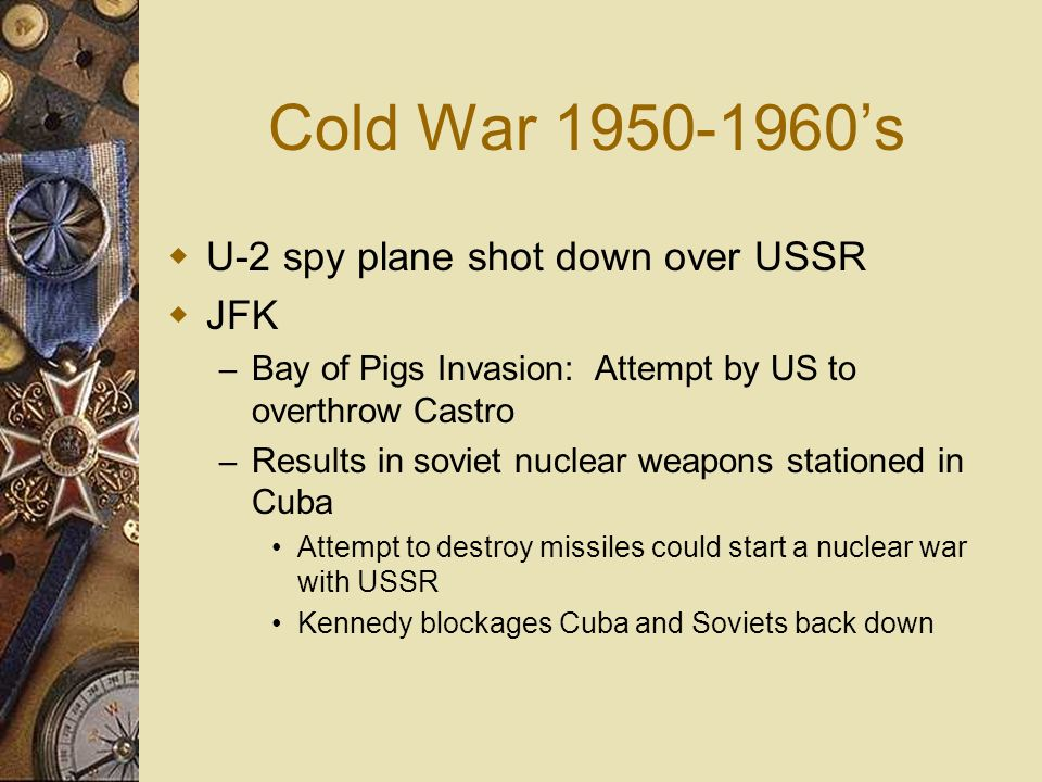 Cold War 1950-1960's U-2 spy plane shot down over USSR JFK