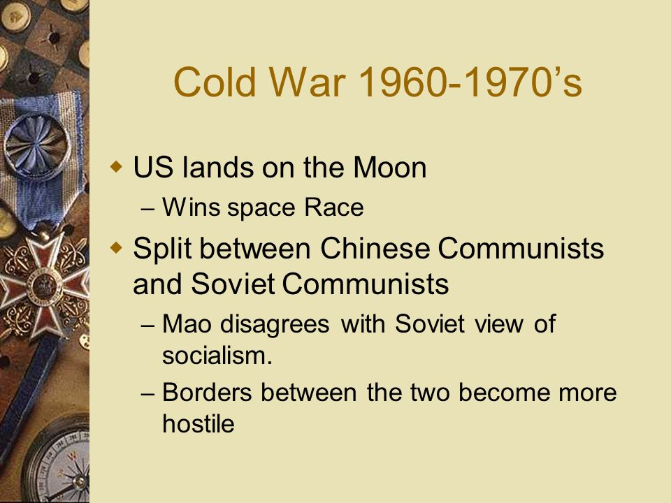 Cold War 1960-1970's US lands on the Moon