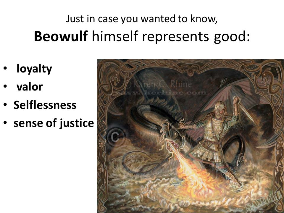 the battles between good and evil in beowulf Beowulf - good vs evil  topics: beowulf  one of the main surrounding themes of beowulf is the struggle battle between good and evil according to the poem,.
