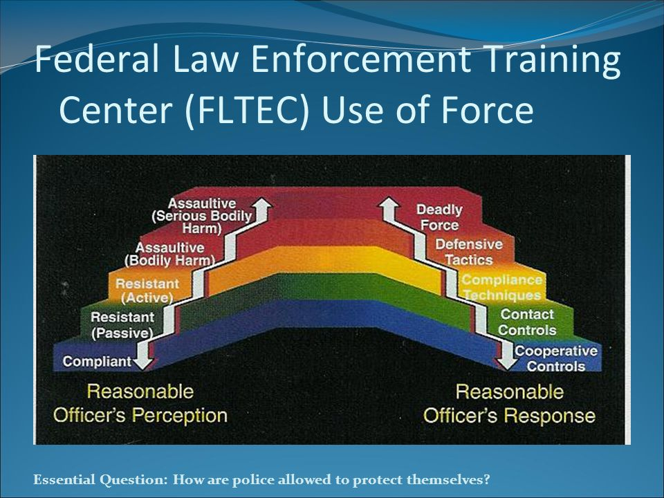 Federal Law Enforcement Training Center (FLTEC) Use of Force