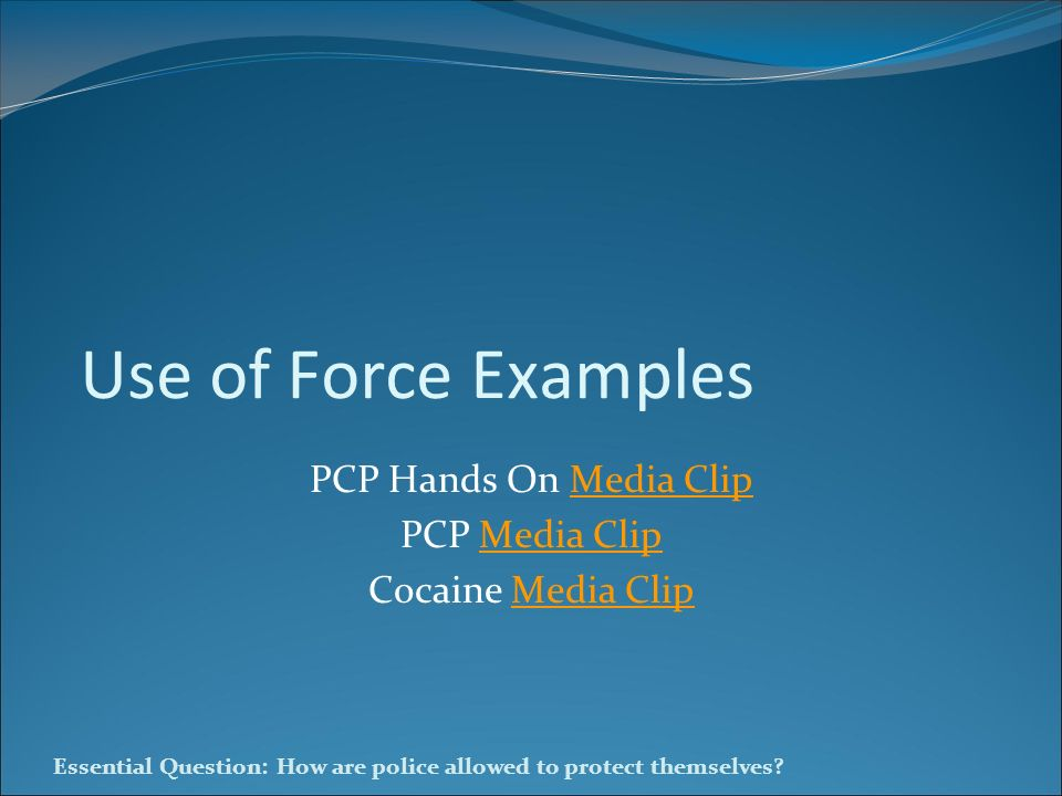 PCP Hands On Media Clip PCP Media Clip Cocaine Media Clip
