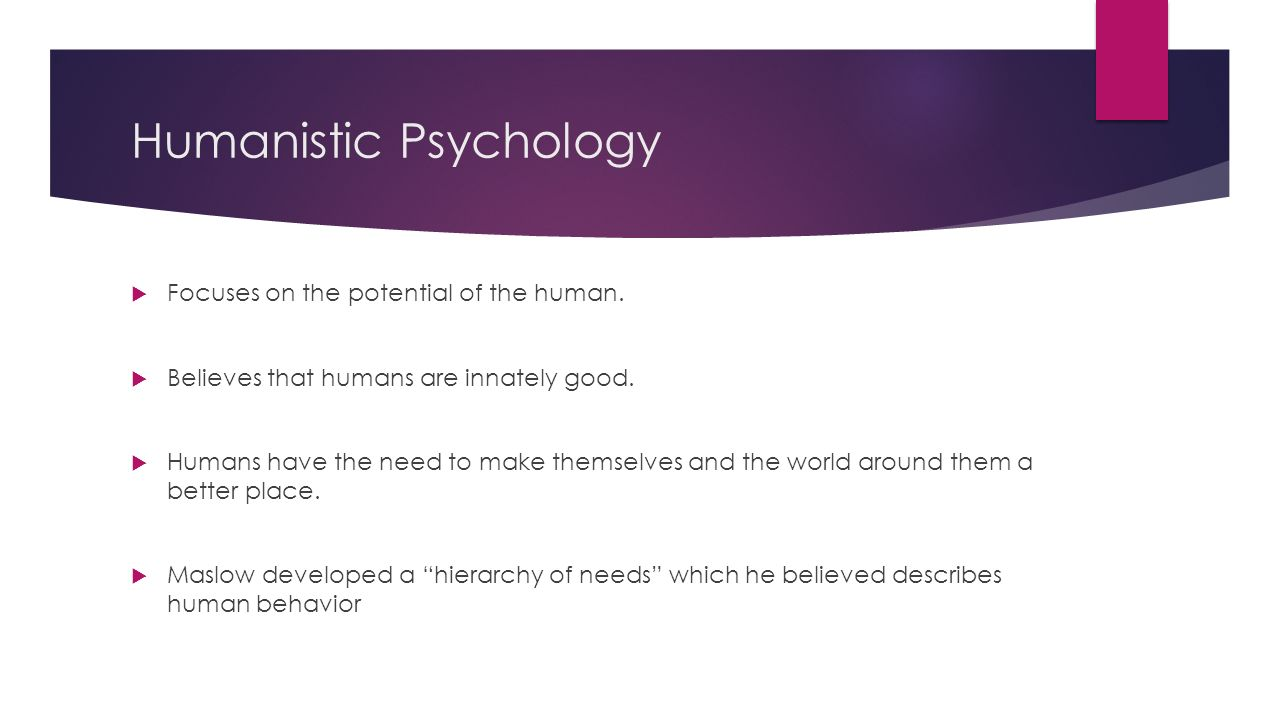 a report on humanistic psychology Psyc 2301 ch 1 chappa humanistic psychology in a written report of their research.