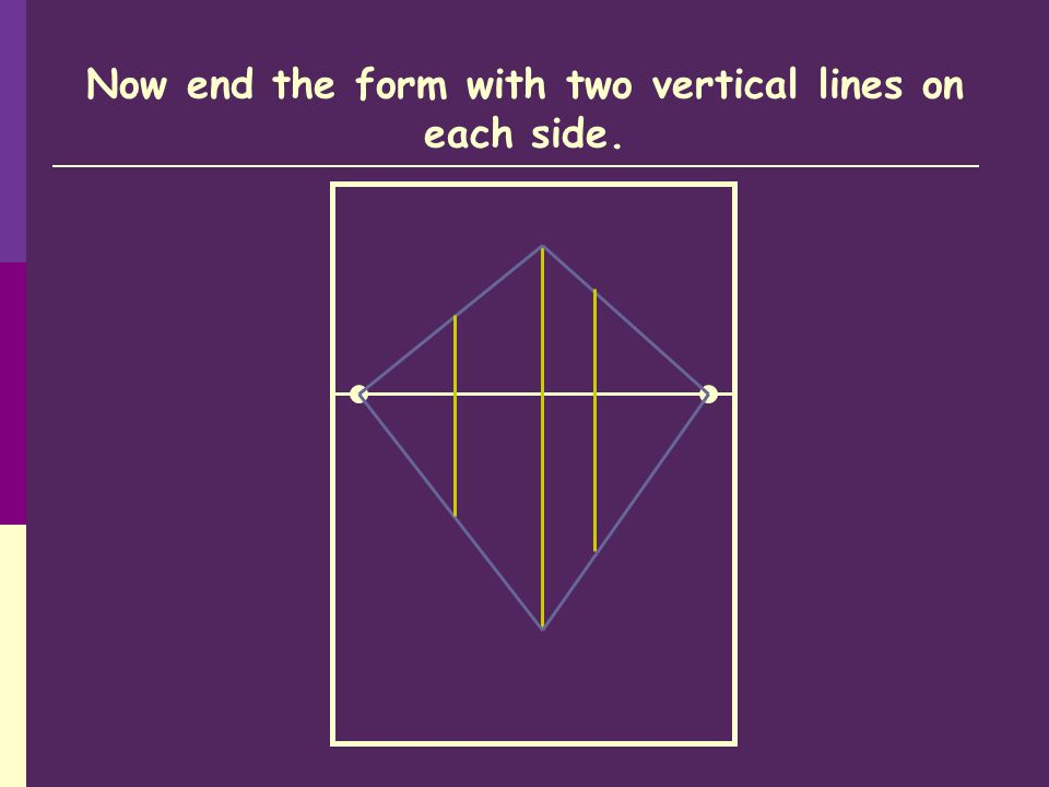 Now end the form with two vertical lines on each side.