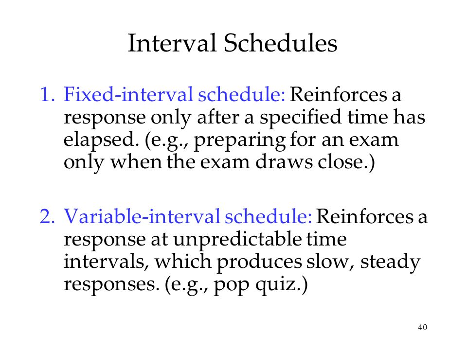 Interval Schedules