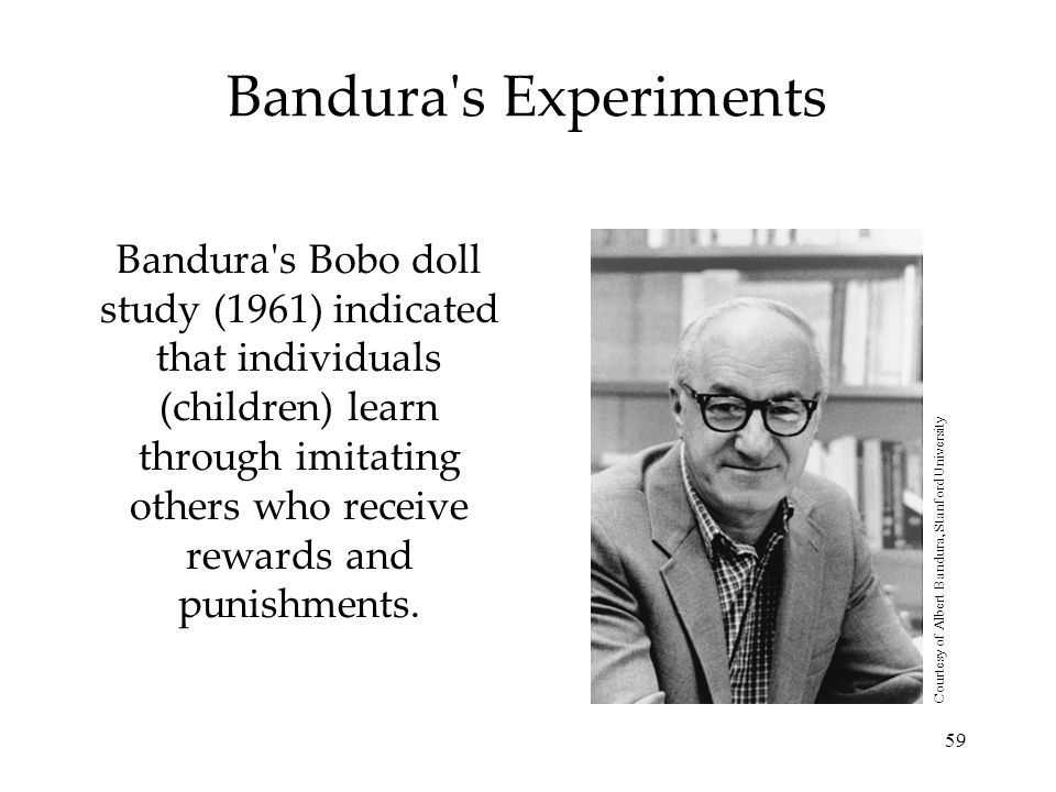 Courtesy of Albert Bandura, Stanford University