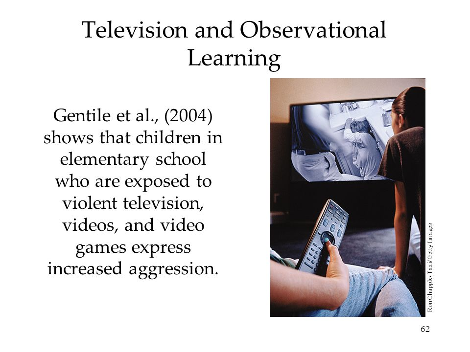 Television and Observational Learning