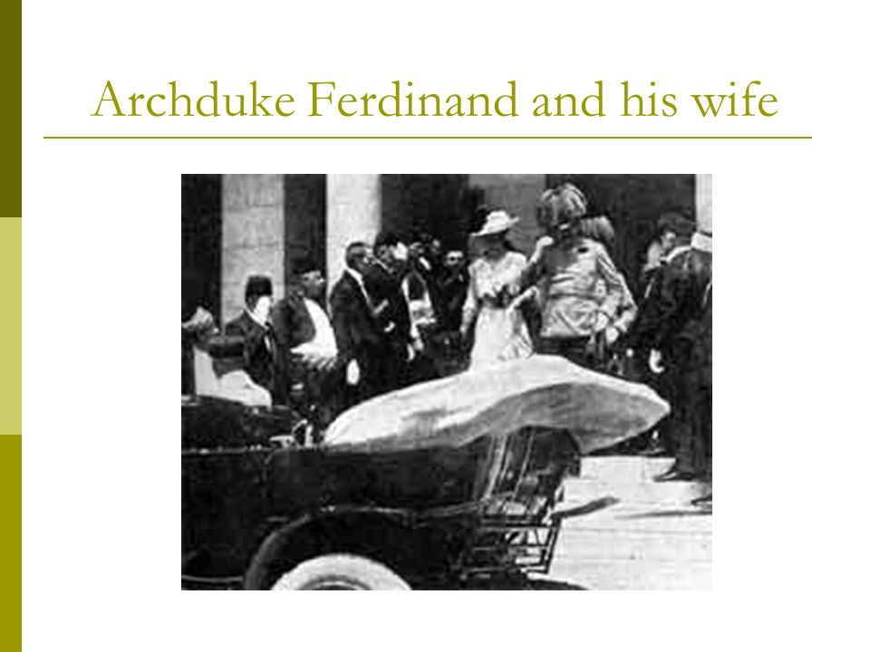 Archduke Ferdinand and his wife