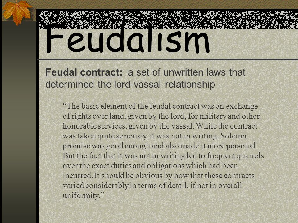 Essay on Lord-Vassal Relationships in Feudalism