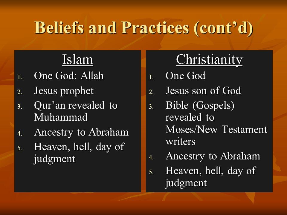 Beliefs and Practices (cont'd)