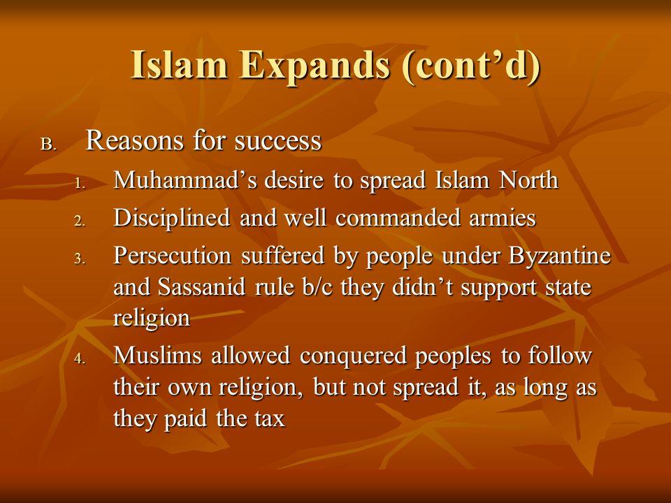 Islam Expands (cont'd)