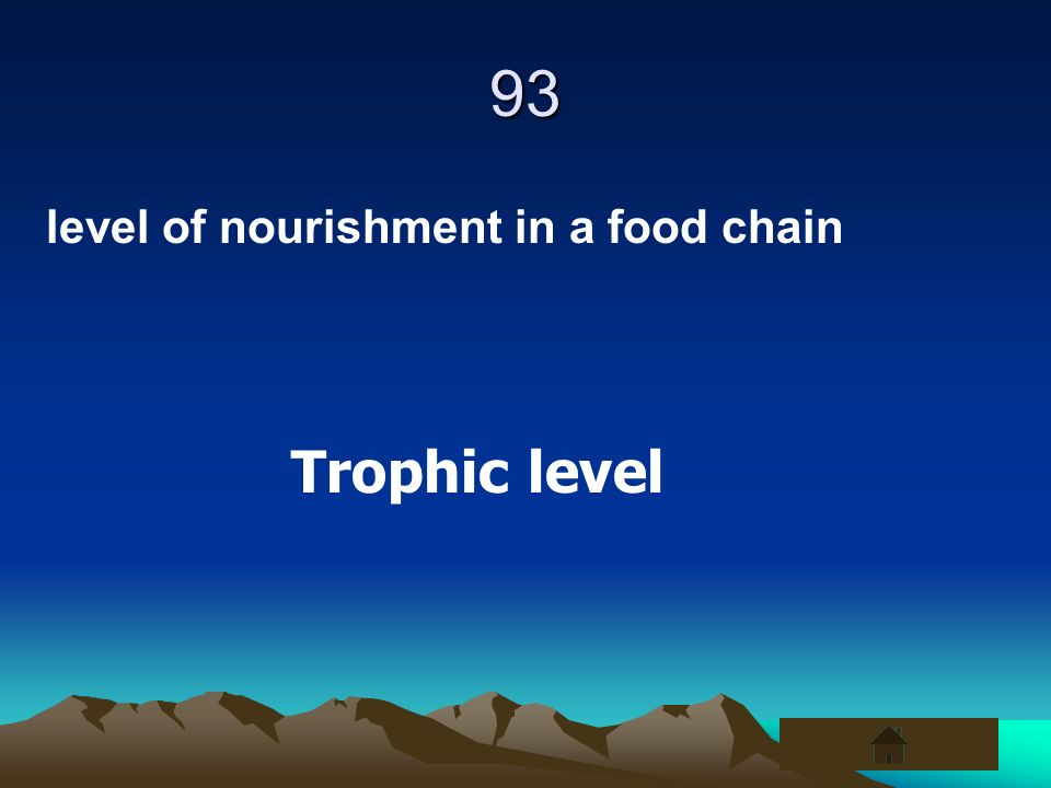 93 level of nourishment in a food chain Trophic level