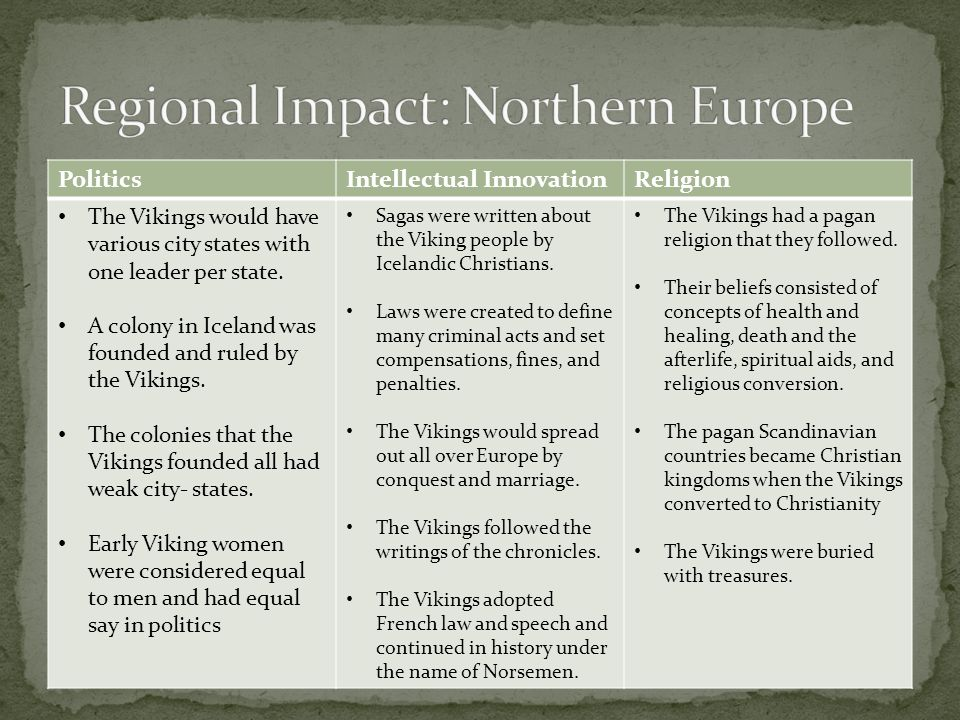 Regional Impact: Northern Europe