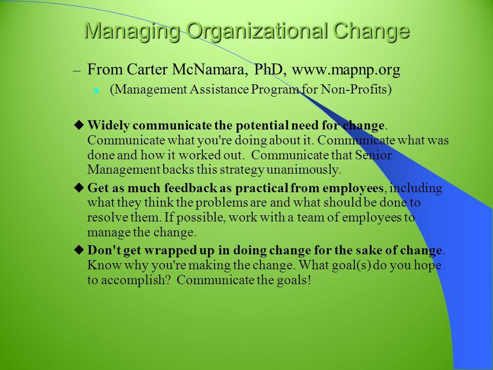 manage organization change