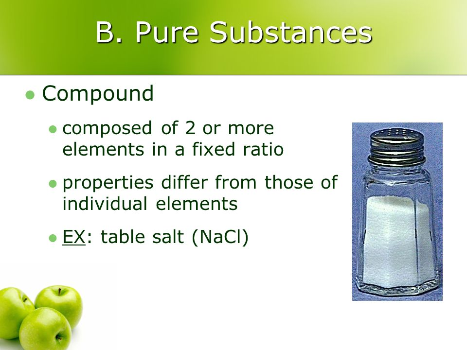 B. Pure Substances Compound