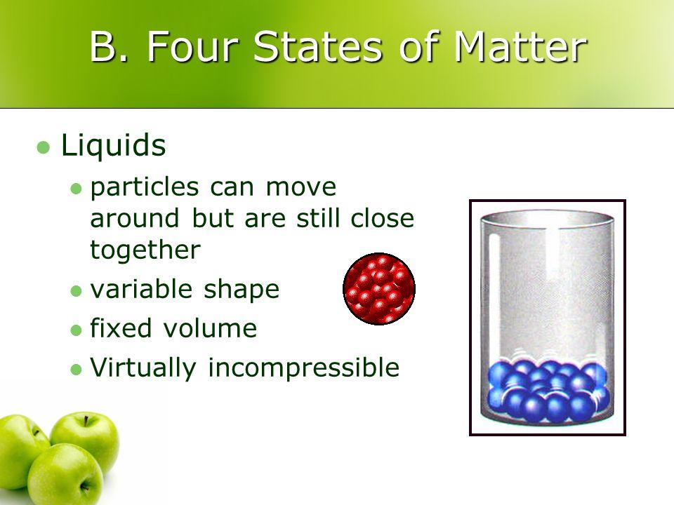 B. Four States of Matter Liquids