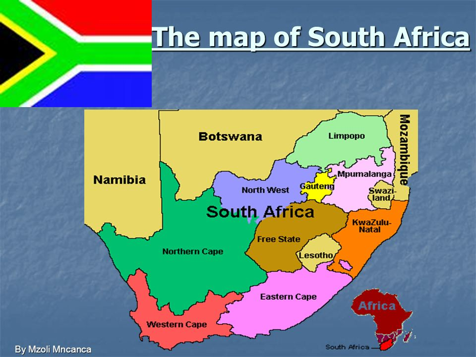 The map of South Africa By Mzoli Mncanca